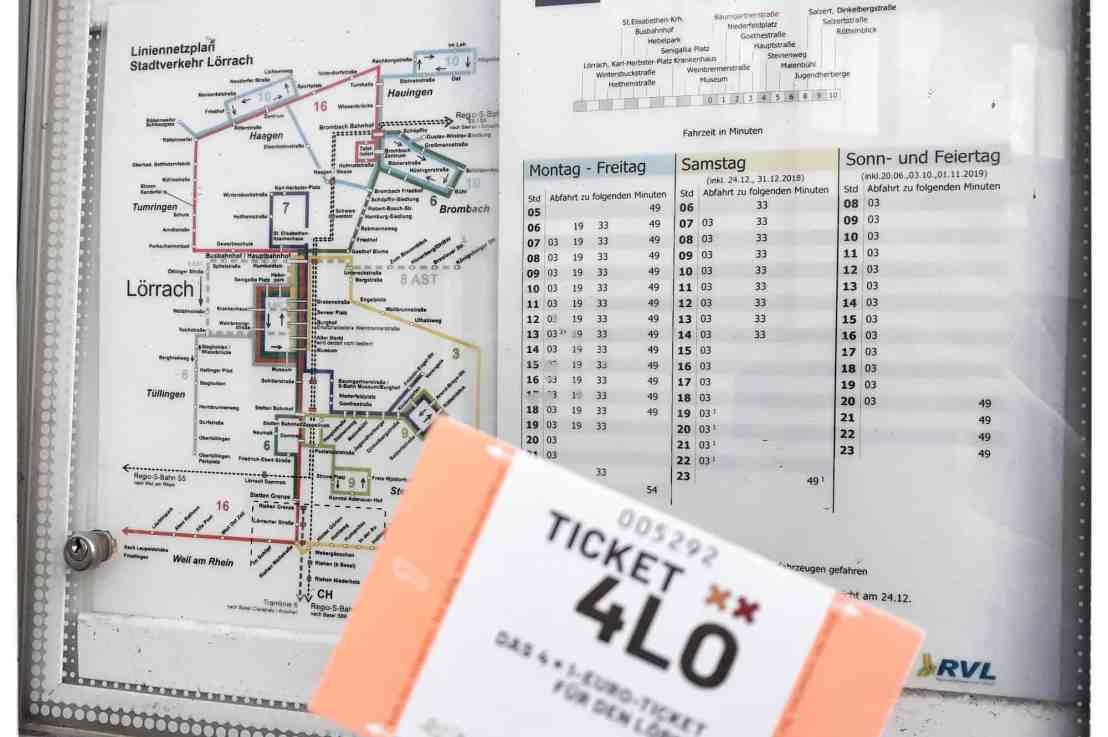 Ticket4lö das  1-Euro-Ticket für Bus und Bahn in Lörrach