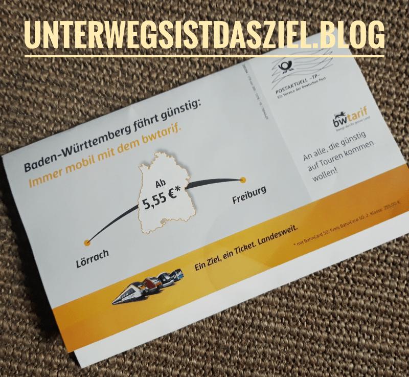 Postwurfsendung: Baden-Würtemberg fährt günstig mit dem bwtarif