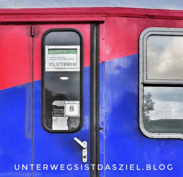 Der Flixtrain Wagon am BTE Autozug Flixbus bietet eine Nachtzug Verbindung zwischen Hamburg und Lörrach an