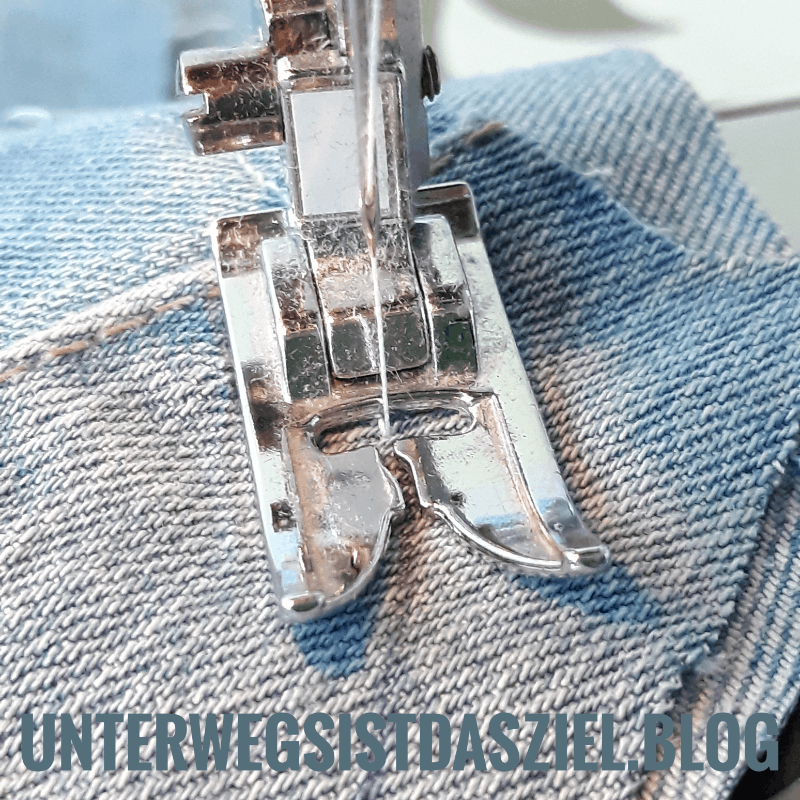 Schritt für Schritt Nähanleitung . Untersetzer aus alter Jeanshose nähen. Supereinfach auch für Anfänger