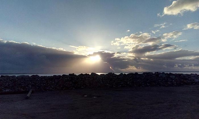 Handbjerg Marina Sonnenuntergang