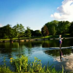SUP standup paddling auf dem aasee in bocholt