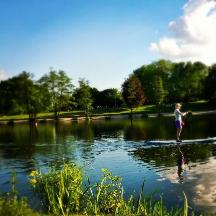 SUP standup paddling auf dem aasee in bocholt