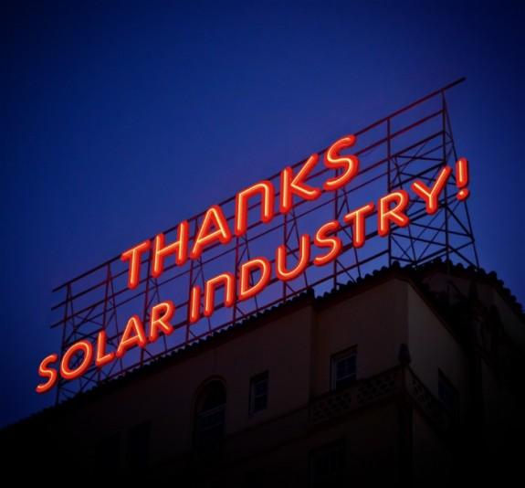 Thanks Solar Industry 2