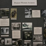 Photo wall of pioneer women in aviation