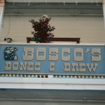 Sign for Bosco's Bones and Brew