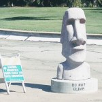 Head statue at the Las Palmas park in Sunnyvale