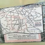 Postcard of automobile routes around Santa Clara Valley to view spring blossoms, circa 1940.