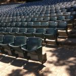 Seats at the Lilian Fountain Garden Theatre in Montalvo, Saratoga