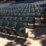 Seats at the Lilian Fountain Garden Theatre in Montalvo, Saratoga