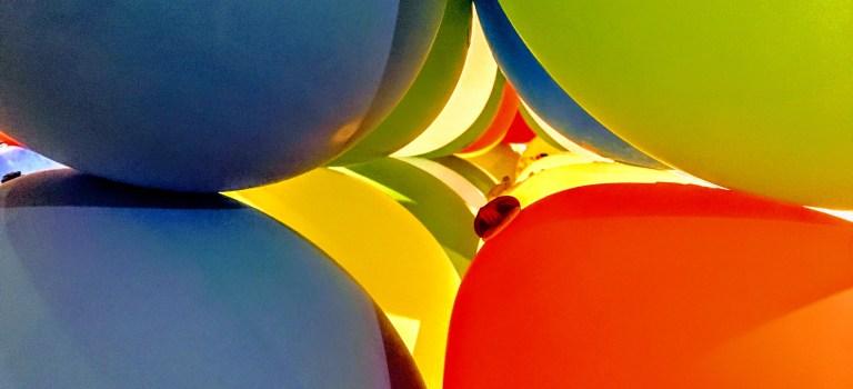 Balloons part of Luftschloss at the Palo Alto Art Center