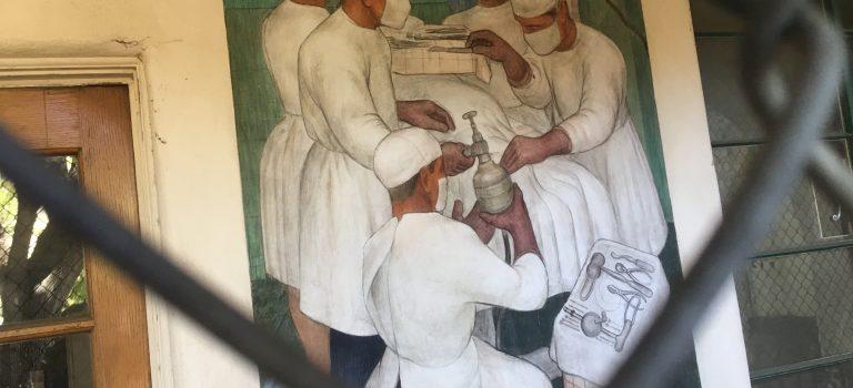 Victor Arnautoff's mural depicting neurosurgeon Harvey Cushing at work