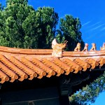 Roof of Memorial Hall at the Chinese Cultural Garden, San Jose