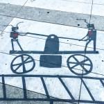 Railbots part of the Shadow Art series by Damon Belanger