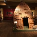Ohlone hut from the permanent exhibit of de Saisset at Santa Clara University