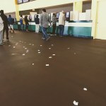 Tickets on the floor  at Golden Gate Fields, Berkeley