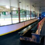 Changing area at the Nazareth Ice Oasis in Redwood City