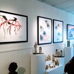 Current exhibit at gallery 9 features Mam-Weber's paintings and ceramics by Shigemi Sanders