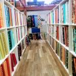 Fabric bolts a Bay Quilts, Richmond