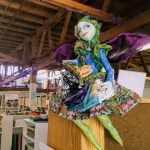 A handmade fairy overlooking Bay Quilts store, Richmond.