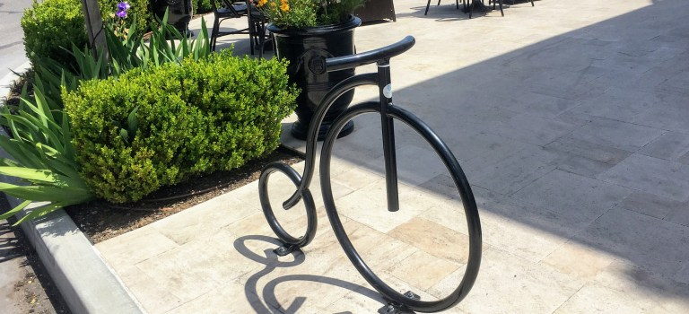 Bike bike rack, Los Altos