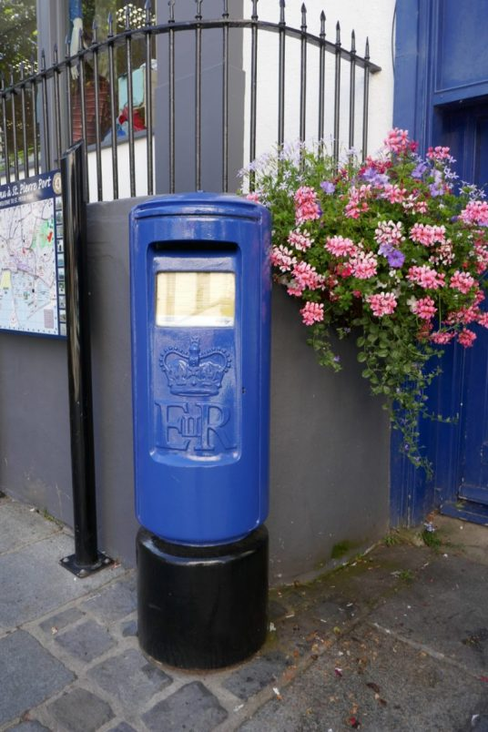 The ubiquitous blue post box