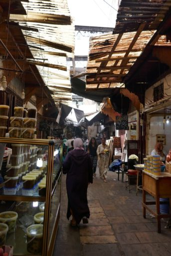 Inside one of the souks