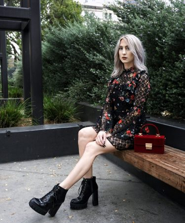 Topshop Gothic Lace Dress and Statement Boots