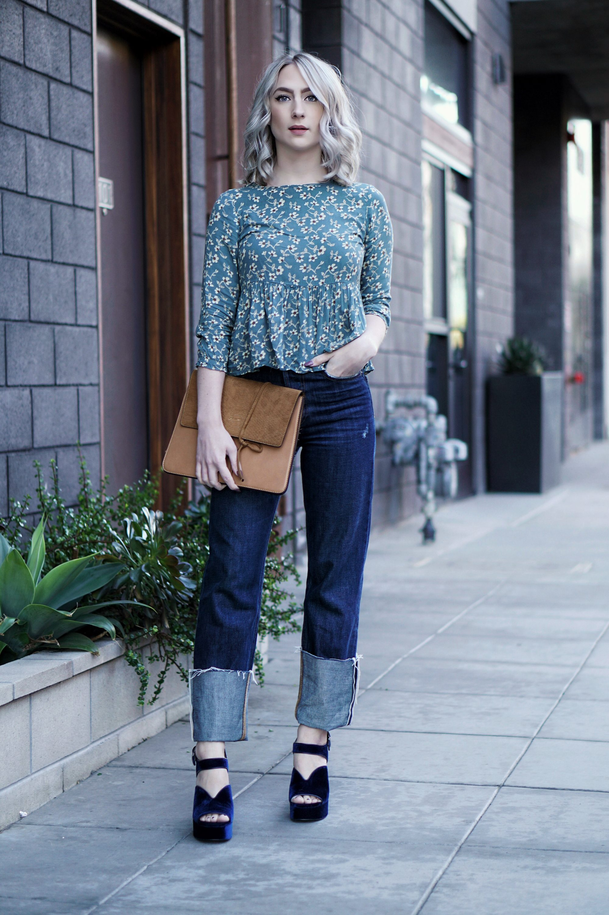 Hello Spring! Floral Tops & Platform Shoes | Until The Very Trend