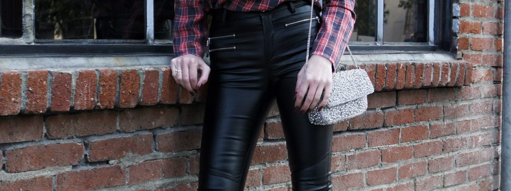 Mix N' Match: Leather, Plaid & Bling | Until The Very Trend
