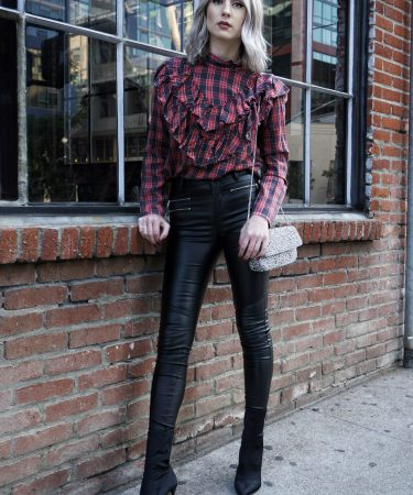 Mix N' Match: Leather, Plaid & Bling