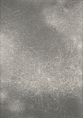 Night Sky III, 2017 String on canvas 200 x 140 cm 78 3:4 x 55 1:8 in.