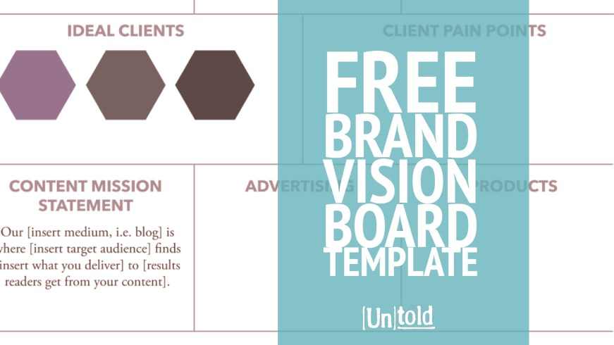 online vision board template