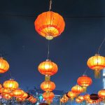 Paper lanterns in Yangshuo city centre