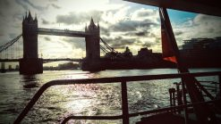 Tower of London - view from Thames Clipper ferry boat