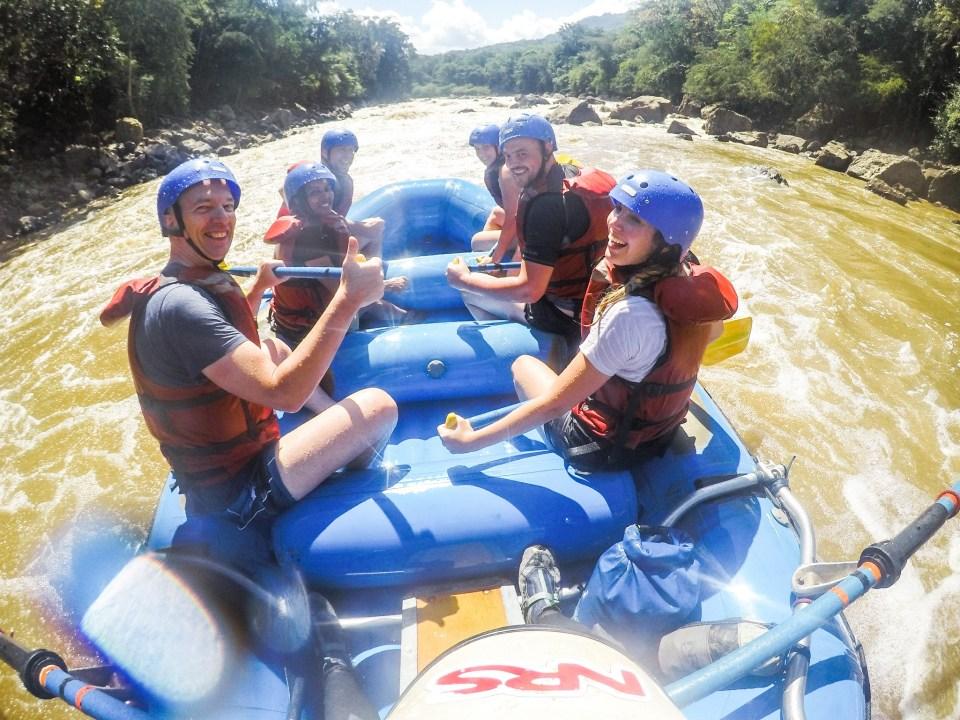 Colombia Rafting auf dem Rio Suarez