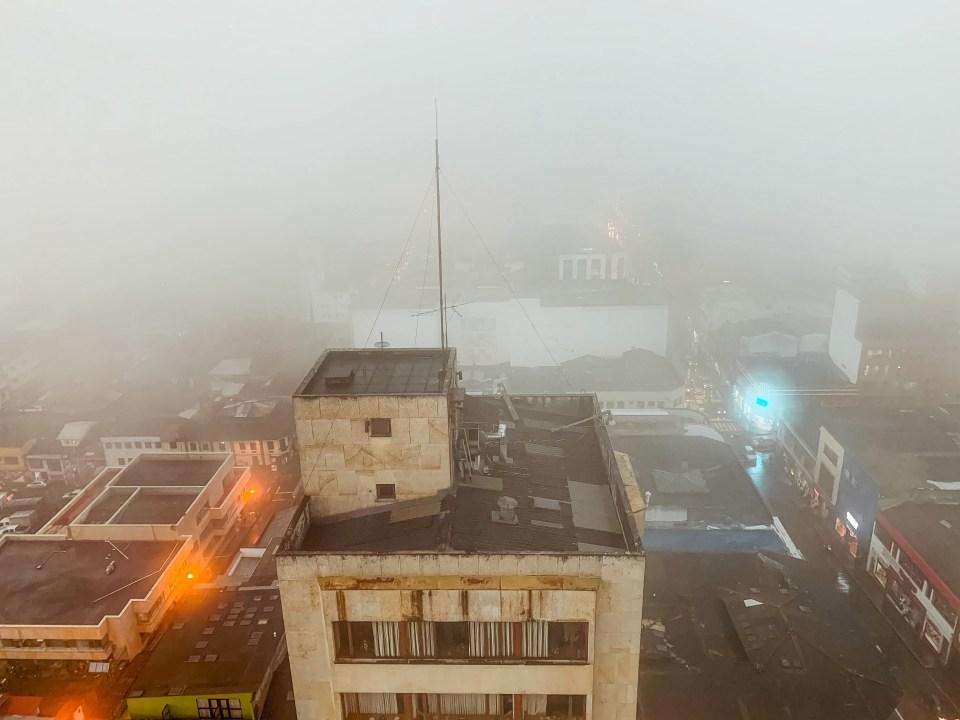 Nebel in Manizales