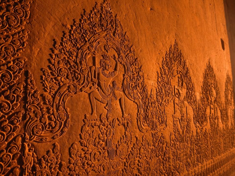 Wandverzierungen von Angkor Wat