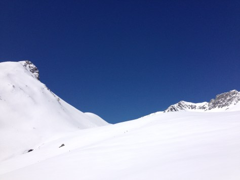topping out into the cirque