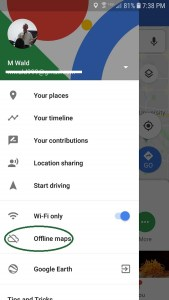 Even without WiFi Google Maps works well