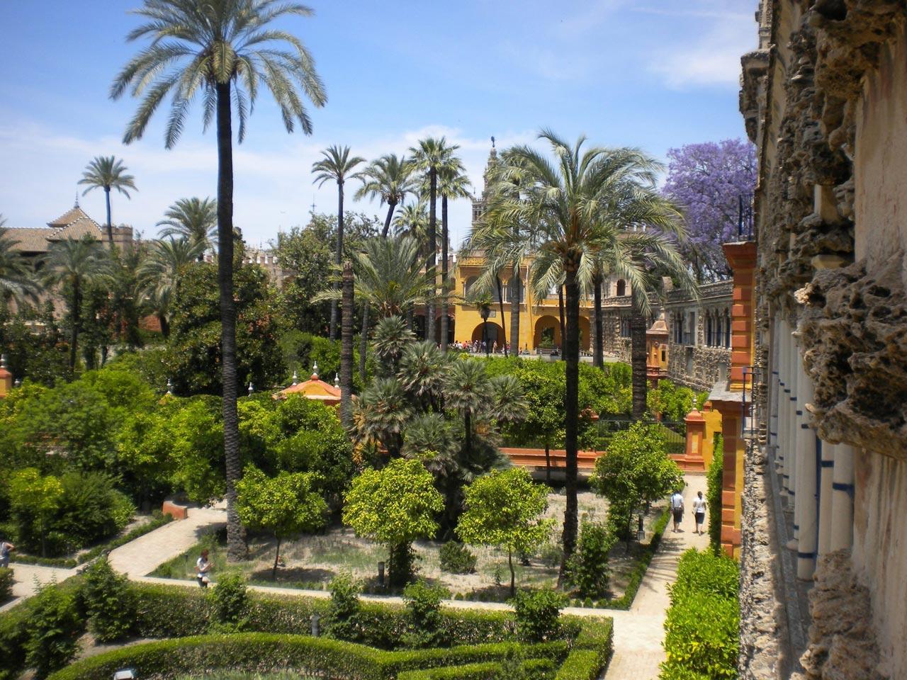 I giardini del Real Alcazar di Siviglia