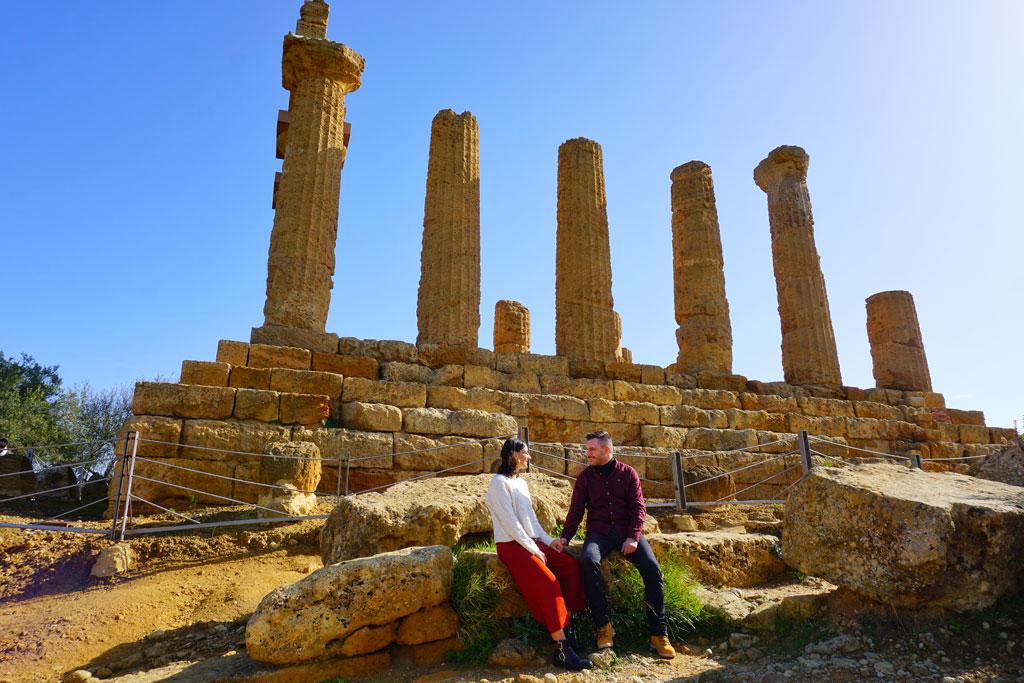 Il Tempio di Giunone nella Valle dei Templi di Agrigento