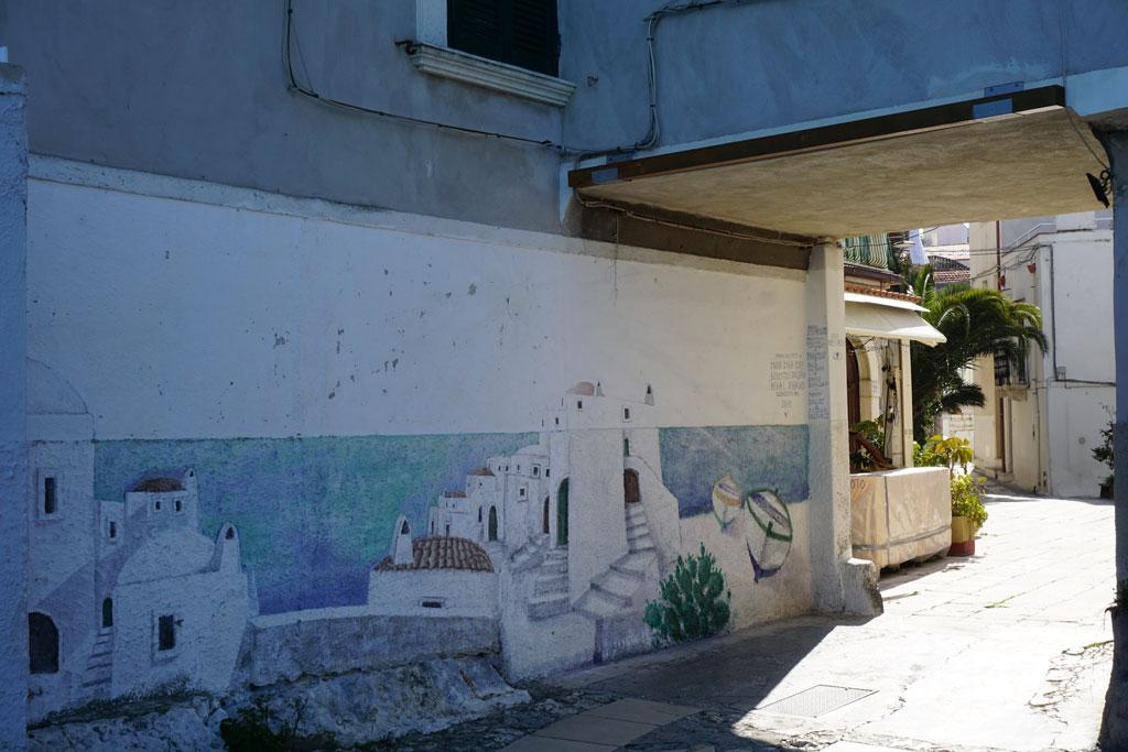 Murale nel centro storico di Peschici
