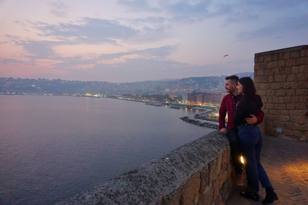 Tramonto a Castel dell'Ovo Napoli