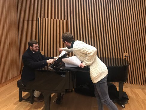 Rehearsing for The Scheining, April 2019