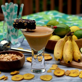 Chocolate Covered Peanut Butter and Banana Daiquiri