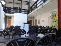 Day 5 - Set up for the presentation at Stour Space