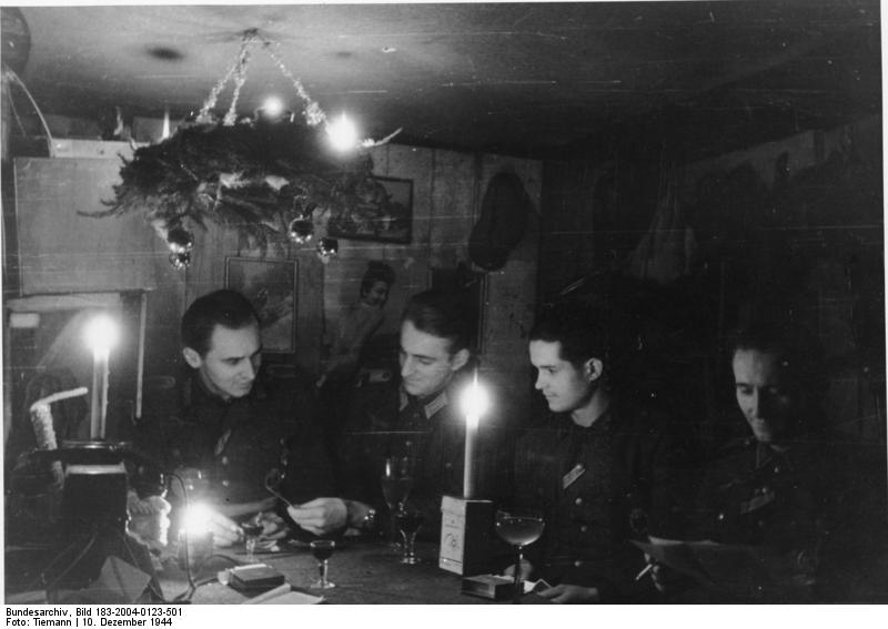 Christmas eve in the bunker, 1944