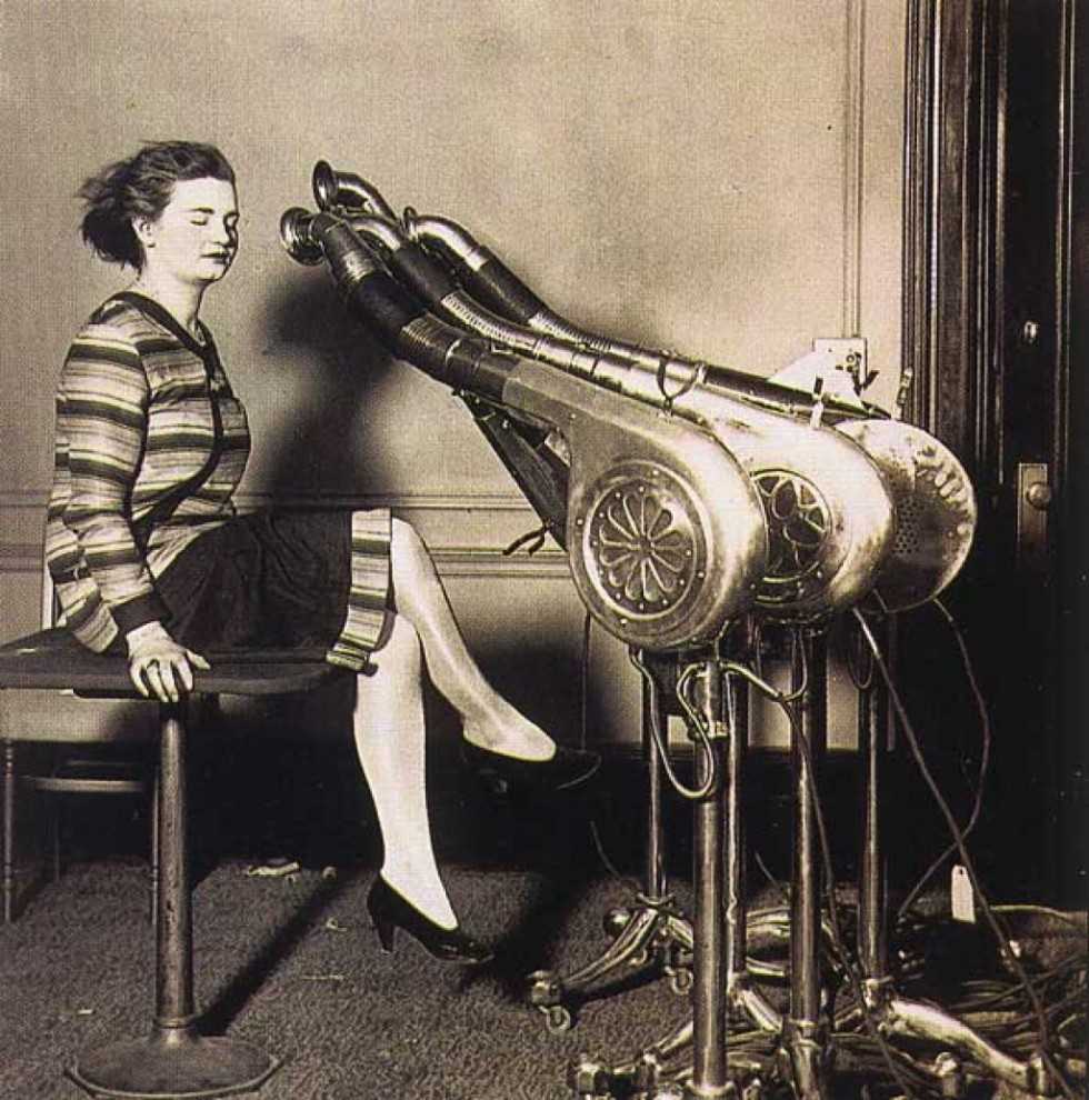 Blow-drying, 1920s.