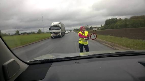 Dancing Traffic Controller in Estonia